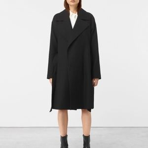 Allsaints INDIRA PENZA cotton coat Black XS